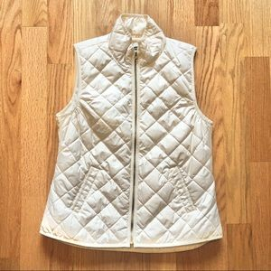 Old Navy Quilted Vest In Cream